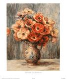 Renoir (Les Anemones) Art Print Poster Prints
