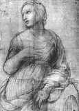 "Raphael (Study for 'St. Catherine of Alexandria "") Art Poster Print Masterprint"
