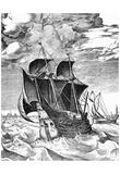 Pieter Brueghel (Marine vessels, sailing ship) Art Poster Print Photo
