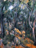 Paul Cezanne (Forest near the rocky caves above the Chateau Noir) Art Poster Print Masterprint