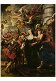 Peter Paul Rubens (Paintings cycle for Maria de 'Medici, Queen of France, the scene: The queen esca Posters