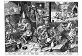 Pieter Brueghel (The Alchemist) Art Poster Print Poster