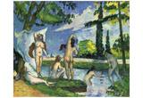 Paul Cezanne (Bathing) Art Poster Print Prints