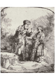 Rembrandt Harmensz. van Rijn (Abraham in an interview with Isaac) Art Poster Print Posters