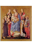 Francesco di Stefano Pesellino (Mary with Child and six saints) Art Poster Print Photo