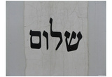 Shalom (Peace) Art Poster Print Posters