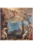 Sebastiano Ricci (Abraham and three angels) Art Poster Print Prints