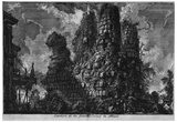 """Giovanni Battista Piranesi (To follow """"The ancient buildings of Rome,"""" Volume III, page X, the tomb Prints"""
