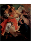 "Giovanni Battista Tiepolo (Abraham and the angels, the counterpart to ""Hagar and Ishmael"") Art Post Prints"