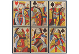 English timber cutters in 1800 (Sheet with six playing cards) Art Poster Print Prints