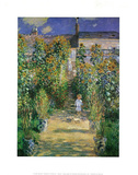 Garden At Vetreuil Claude Monet Art Print Poster Posters