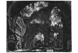 Giovanni Battista Piranesi (Ruins of a sculpture hall in the Hadrian's Villa) Art Poster Print Prints