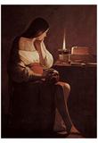 Georges de La Tour (Penitents Maria Magdalena (Magdalena Terfens)) Art Poster Print Obrazy