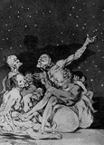"Francisco de Goya y Lucientes (Follow the ""Caprichos,"" Sheet 71: If it begins to dawn, we continue) Masterprint"