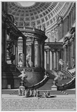 Giovanni Battista Piranesi (Ancient temples, designed and painted in the style of ancient Vestatemp Posters