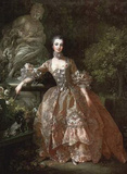 Francois Boucher (Portrait of Madame de Pompadour) Art Poster Print Prints