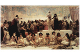 Edwin Long (The marriage market of Babylon) Art Poster Print Photo