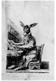 "Francisco de Goya y Lucientes (Drawings for ""Los Caprichos"", ""dream. Educated ass "") Art Poster Pri Posters"