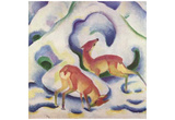 Franz Marc (Deer in snow) Art Poster Print Poster