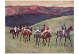 Edgar Germain Hilaire Degas (Racehorses: The Training) Art Poster Print Photo