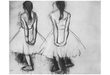 Edgar Germain Hilaire Degas (Two studies from the fourteen-year-old dancer) Art Poster Print Poster