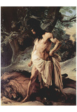 Francesco Hayez (Samson and the Lion) Art Poster Print Prints