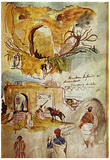 Eugène Ferdinand Victor Delacroix (Walls of Meknes (Morocco sketches from the book)) Art Poster Pri Posters
