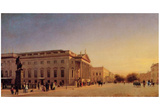 Eduard Gaertner (Berlin, Royal Opera House on Unter den Linden) Art Poster Print Prints