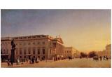 Eduard Gaertner (Berlin, Royal Opera House on Unter den Linden) Art Poster Print Prints