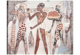 Egyptian masters of the XVIII. Dynasty (Grave chamber of Sobkhotpe, governor: Tribute to the Pharao Prints