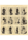 English lithographer to 1855 (The uniforms of the British Navy) Art Poster Print Print
