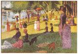 Georges Seurat (Esquisse d'ensemble) Art Poster Print Posters
