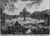 Giovanni Battista Piranesi (Vedute with St. Peter and St. Peter's Square in Vatican City) Art Poste Masterprint