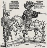 "Hans Sebald Beham (Heerestross"" Detail: Captain and Landsknecht) Art Poster Print Masterprint"