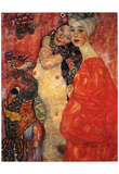 Gustav Klimt (Girlfriends, Les Amies) Art Poster Print Poster
