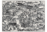 Hans Sebald Beham (Siege of Rhodes) Art Poster Print Prints