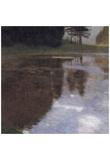 Gustav Klimt (Reflection at the Park) Art Poster Print Print