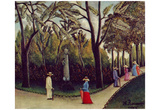 Henri Rousseau (The Chopin monument in the Jardin du Luxembourg) Art Poster Print Posters