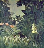 Henri Rousseau (Jungle on the equator) Art Poster Print Masterprint