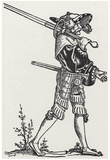 "Hans Sebald Beham (Landsknecht with ""soldiers"", two -) Art Poster Print Prints"