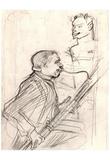 Henri de Toulouse-Lautrec (Desiré Dihau, bassoon playing) Art Poster Print Posters