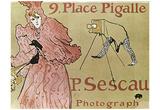 Henri de Toulouse-Lautrec (9 Place Pigalle, P. Sescau Photographe) Art Poster Print Posters