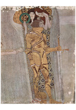 Gustav Klimt (The Knight Detail of the Beethoven Frieze) Art Poster Print Poster