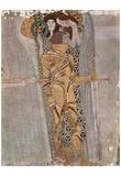 Gustav Klimt (The Knight Detail of the Beethoven Frieze) Art Poster Print Poster