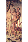Hans Baldung Grien (The age and the death) Art Poster Print Posters