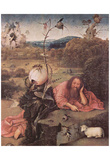Hieronymus Bosch (Meditators St. John the Baptist) Art Poster Print Prints