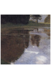 Gustav Klimt (Reflection at the Park) Art Poster Print Masterprint