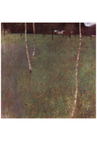 Gustav Klimt (Farmhouse with Birch Trees) Art Poster Print Posters