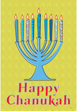 Happy Chanukah (Menorah) Art Poster Print Masterprint