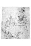 Hans Suss of Kulmbach (Study Sheet with three, infants breast-feeding women) Art Poster Print Print